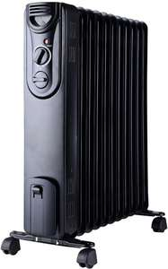 Pro-Elec 11-Fin Oil-Filled Radiator, 2.5kW, 2500W, White Or Black @ CPC Farnell for £34.20 Delivered