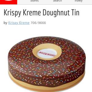 Krispy Kreme Doughnut Tin now £3.74 from £14.99 @ Argos