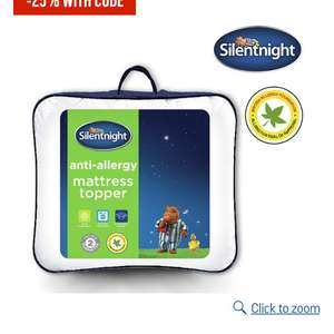 2 Silentnight Anti Allergy Mattress Topper - Single  £20.59 each add 2 for £22.50 @ Argos
