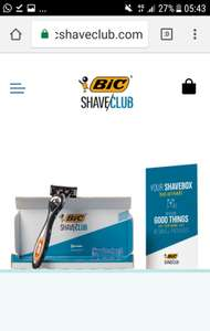 Trial razor for £2.00 at Bic shave club