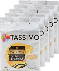 5 x pack of Tassimo English Breakfast Tea £11.25 with code (Subscribe and Save offer) Amazon
