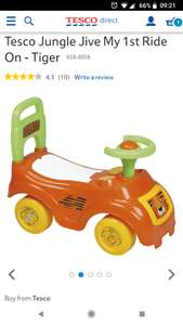 Tesco Jungle Jive My 1st Ride On - Tiger - £9 Free c&c