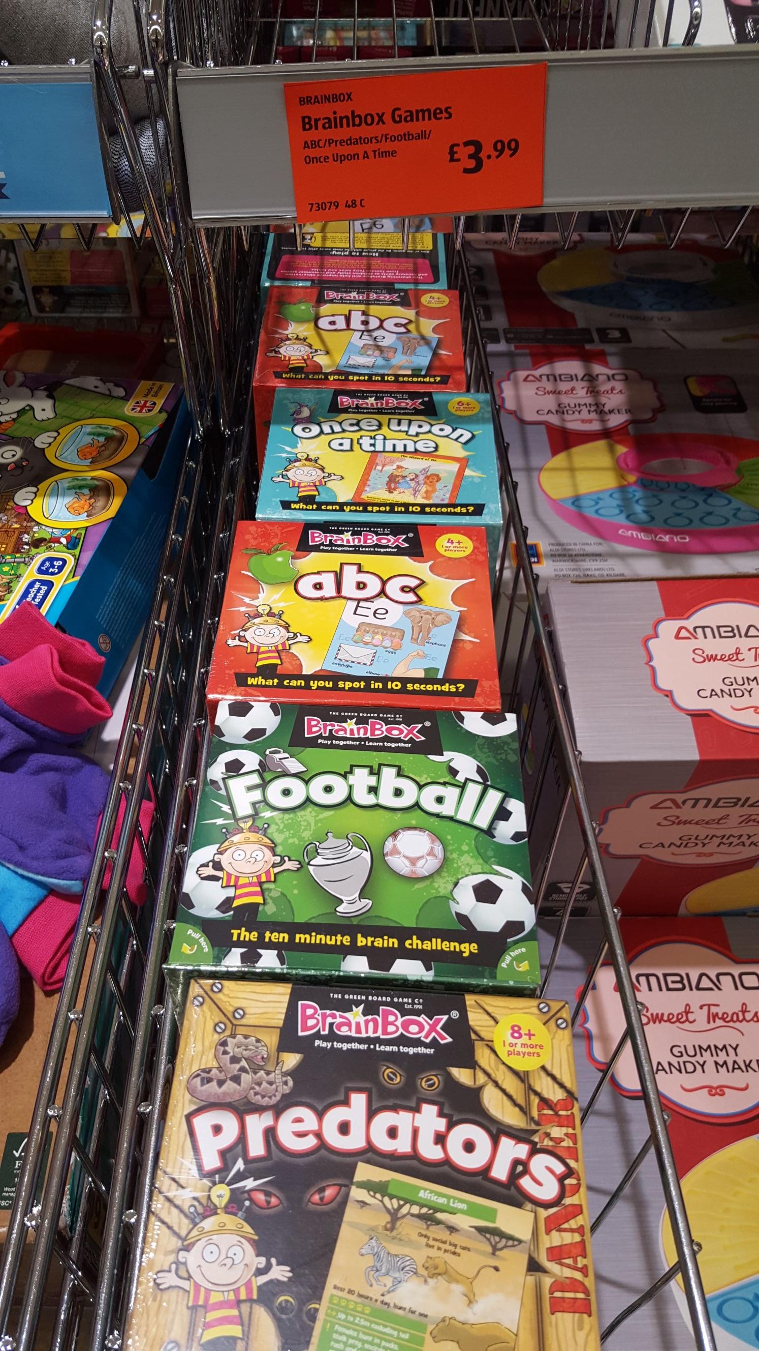BrainBox Time Games - £3.99 @ Aldi instore (Strood)
