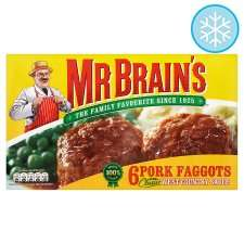 Mr Brain's 6 pork faggots (656g) 85p at Tesco