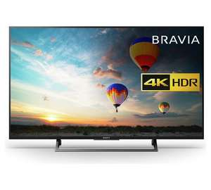 Amazing price £429 for Sony 49 Inch KD49XE8004BU Smart 4K UHD TV @ Argos
