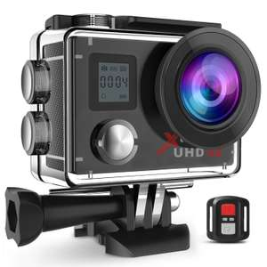 "Campark Action Camera Waterproof 4K Wifi Sport Cam 2"" LCD Screen 170° Wide Angle Underwater Camcoder with Remote Control 2 Upgraded Batteries + Professional Bag £39.99 Sold by Campark Direct and Fulfilled by Amazon"