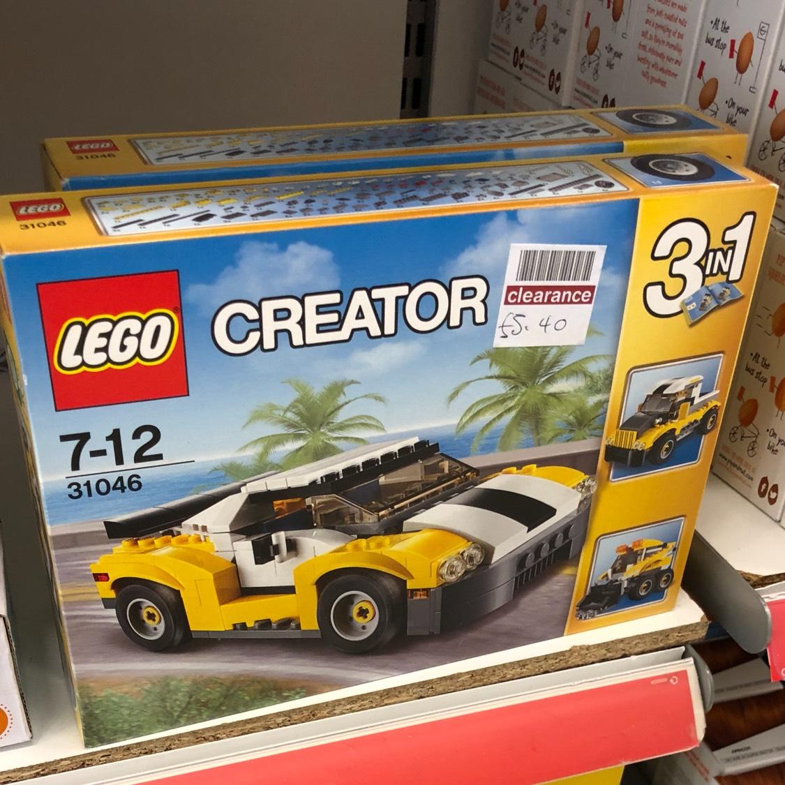 Lego creator fast car £5.40 boots crayford
