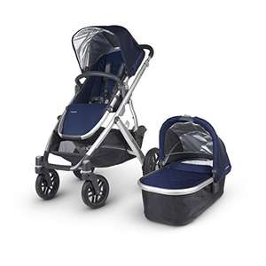 UPPAbaby Vista Pushchair and Carrycot (suitable to sleep overnight in) in Taylor Navy now £499.99 / Lassig Casual Buggy Organizer, Cork Star, Light Grey £14.99 Prime / £19.98 Non Prime @ Amazon