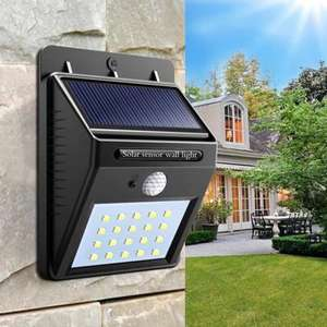 Solar Powered Waterproof 20 LED Motion Sensor Wall Light for Patio Garden - Black £4.75 **Now £4.33**  Del w/code @ RoseGal