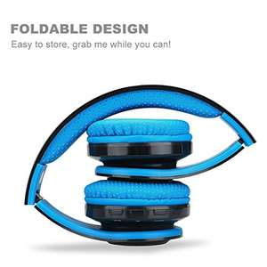 Excelvan Foldable Bluetooth Over-Ear Headphones - £9.99 (Prime) / £13.98 non prime - Sold by EKEYUK and Fulfilled by Amazon - Lightning deal