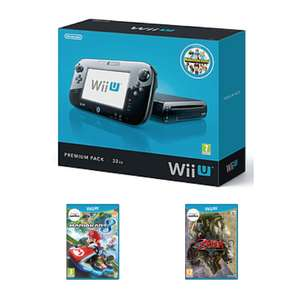 Preowned Wii U Bundle with Mario Kart 8 and Twighlight Princess or Super Mario Bros. U and Super Smash Bros. or Yoshi's Wolly World and Kirby the Rainbow Paintbrush - £119.99 - Game