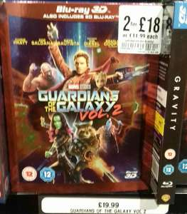 Guardians of the Galaxy 2 3d/2d in HMV 2 for £18 offer