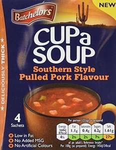 Batchelors Cup a Soup, Southern Pulled Pork, 98 g, Pack of 9 £3.71 (Add On) @ Amazon