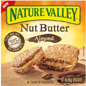 Nature Valley Nut Butter (4x38g) - £1.50 @ Sainsbury's