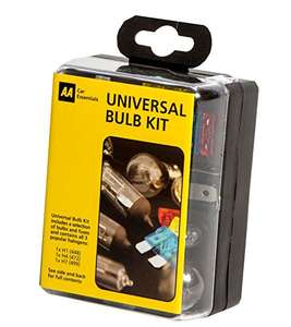 AA Compact Universal Bulb Kit, inc H1, H4 and H7 bulbs and fuses. £2.95 Prime / £6.94 Non Prime @ Amazon