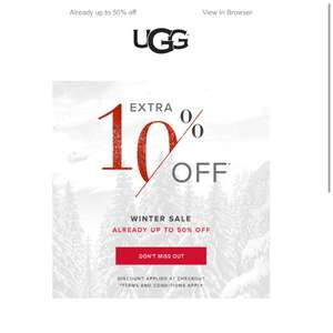 Ugg Sales Get an EXTRA 10% off SALE!