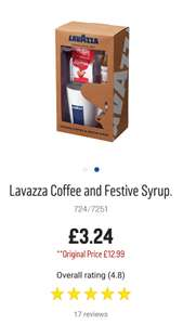 Lavazza Coffee and Festive Syrup -Argos - £3.24