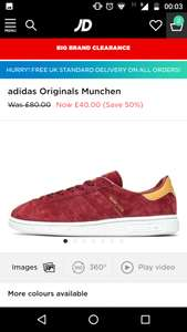 Adidas München Trainers - £40 delivered @ JD Sports