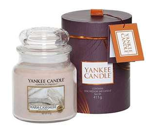 Yankee candle Gift Wrap Warm Cashmere Scented Candle In Glass £8.99 (Prime) £13.74 (Delivered)@ Amazon