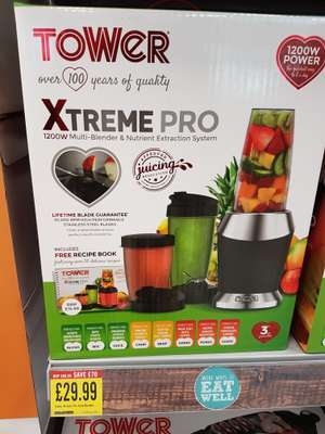 Tower Xtreme Pro Nutri Blender 1200w - £29.99 at Iceland instore