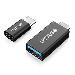 Amazon - Type C USB-C Adapter,UCOUSO [2 in 1 Pack] USB-C to USB 3.0 Adapter and USB Type C to Micro USB Converter £2.99 Sold by UCOUSO UK Direct and Fulfilled by Amazon - add on item
