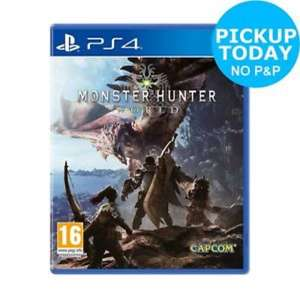 Monster Hunter World £39.59 collect today PS4/XB1 - £39.59 with code @ Argos eBay