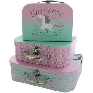storage cases & storage boxes,includes all sets of 3,unicorns,mermaids,etc £7 or 2 for £10 @ the works,free c+c