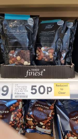 Tesco Vanilla Fudge flavoured fruit n nuts 50p (in store)