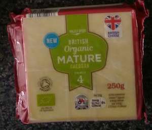 250g Organic Cheddar (Mild / Mature) for 99p @ LIDL in store