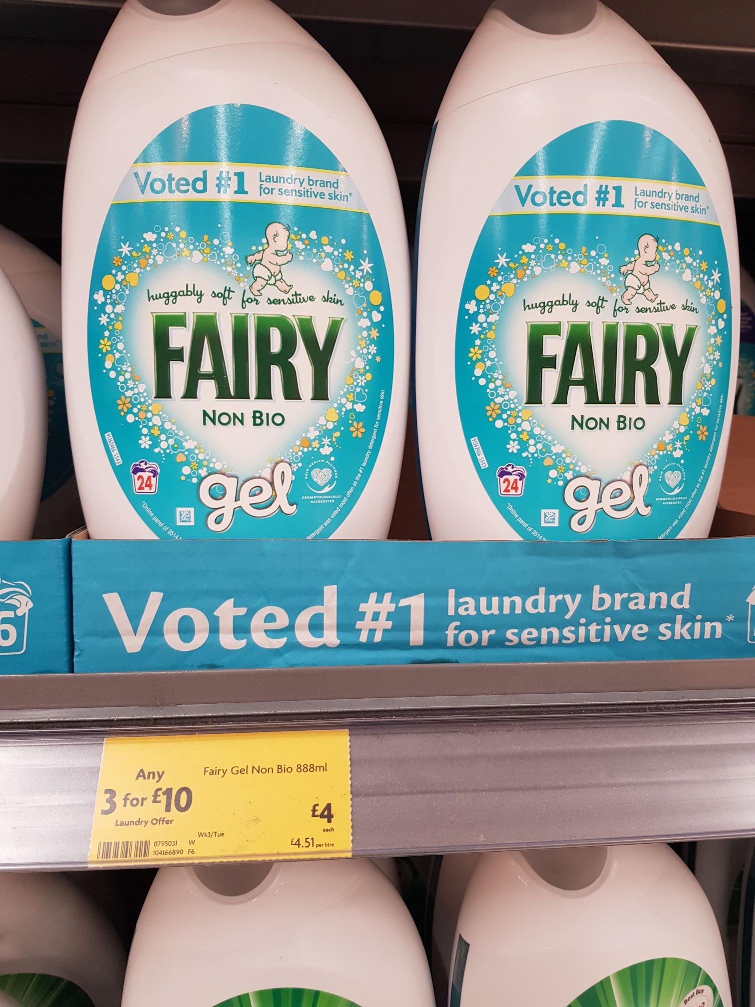 3 for £10 fairy washing liquid 888ml @ Morrisons