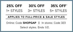 Up to 70% off Sale on Gap and on top of that get  up to 35% off on Sale+ Non sale items