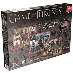 Game of Thrones Special Edition Collector's Box Set Jigsaw Puzzles - was £19.99 now £6.10 (Prime) £10.09 (Non Prime) @ Amazon