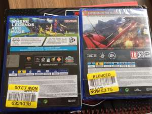 Tesco Games Reduced - PES 2018 - £3 / Battlefield 1 - £3.75 instore (Blackpool)