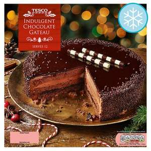 Tesco indulgent chocolate gateau £1 instore