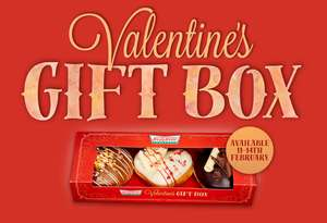 Valentine's Day Krispy Kreme Limited Edition Gift Box £6  each or 2 for £10