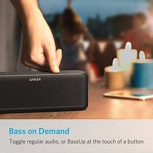 Anker SoundCore Boost 20W Bluetooth Speaker with BassUp Technology - 12h Playtime, IPX5 Water-Resistant,  £38.48 Lightning Deal @ Sold by AnkerDirect and Fulfilled by Amazon.