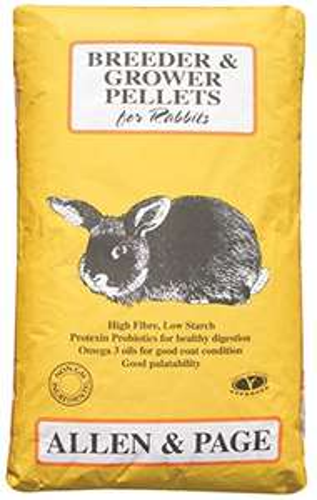 Allen & Page Rabbit Breeder Grower Pellets 20 kg - £12.49 (Prime) £17.24 (non prime) @ Amazon