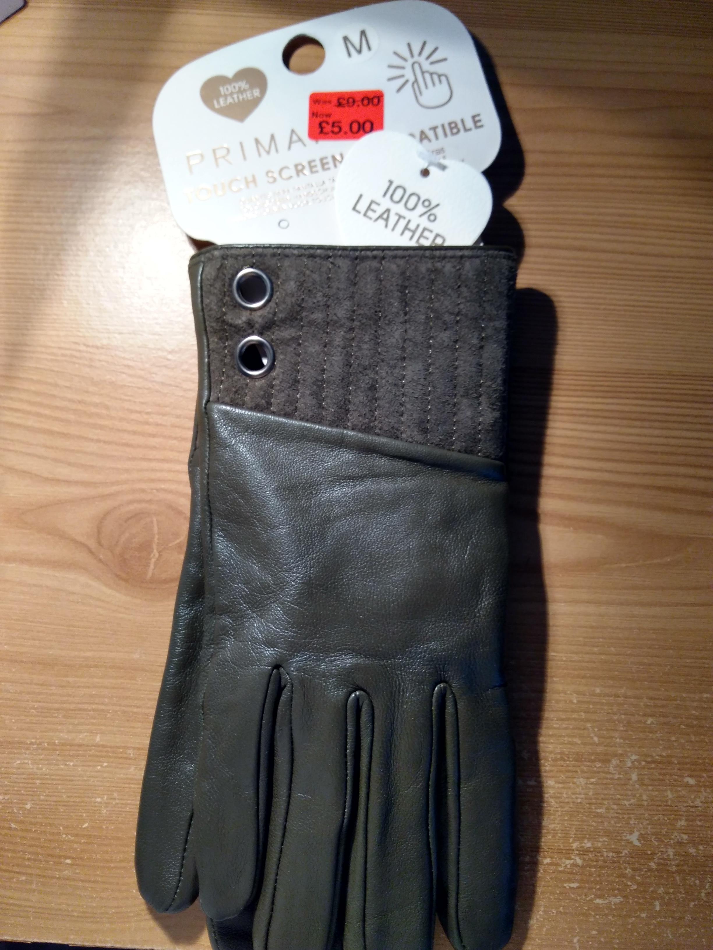 Leather Gloves £5 in Primark