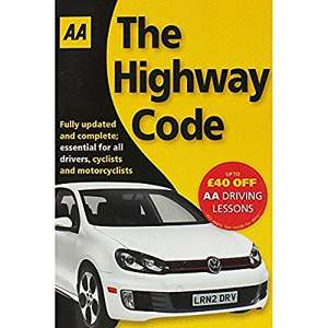 AA the Highway Code (Paperback) - was £2 now £0.62 (Prime) / £3.61 (Non Prime) @ Amazon