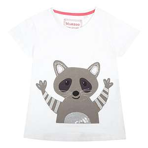Debenhams Bluezoo Girls' White Racoon Applique Top age 2/3 only £2.40 prime / £6.39 non prime Sold by Debenhams and Fulfilled by Amazon