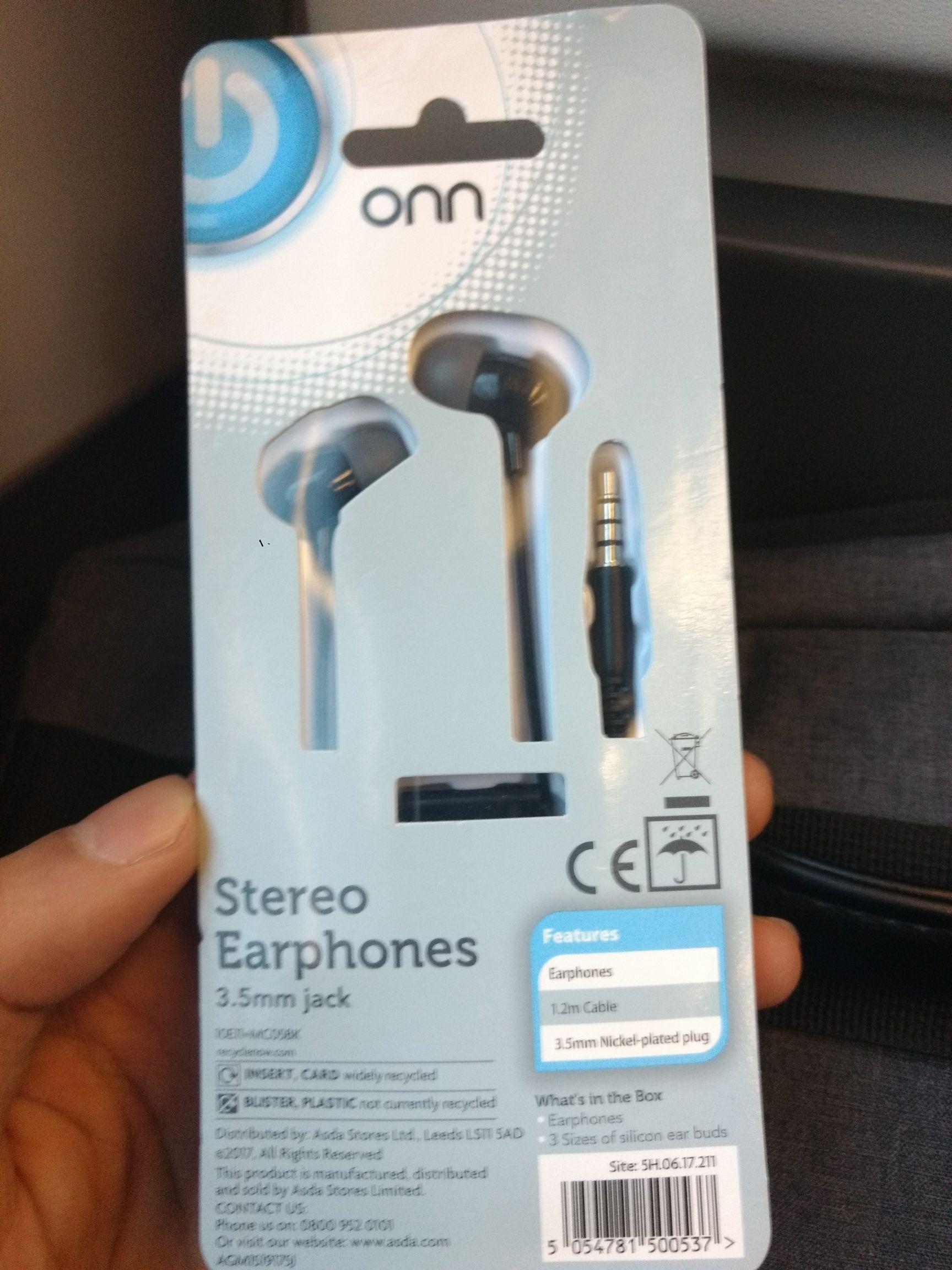 Stereo Earphones 30p @ Asda - Portsmouth