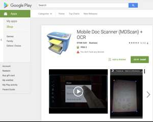 Mobile Doc Scanner (MDScan) + OCR on Google Play - was £3.99 now FREE @ Google Play