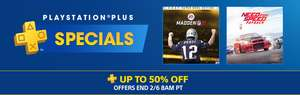 US PSN Playstation Plus PS+ Specials Sale