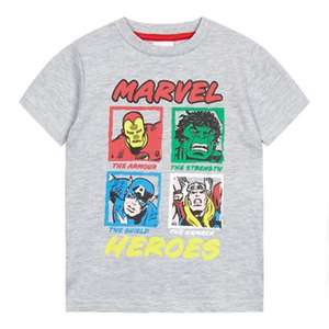 Marvel - Boys' grey 'Marvel Heroes' print t-shirt (Ages 1 to 5 available) £3.30 - £3.60 delivered @ Debenhams