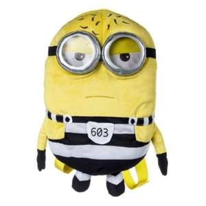 Minions Despicable Me 3 Mel or Tom Plush Backpack £5.99 delivered with code  FR33DEL  @ The Internet Gift Store