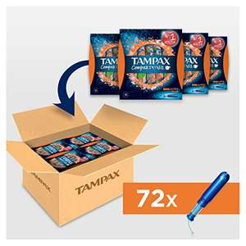 Tampax Compak Pearl Super Plus, 4 x 18 Count, Super Saving Box £2 @ Amazon - Add on item