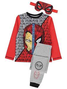 Dual face Spiderman and iron man pyjamas + reversible mask £5 @ asdageorge