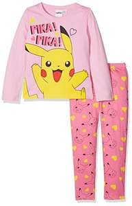 Pokemon Girl's Pikachu Character Pyjama Set @ Amazon (Add-on Item for orders over £20)