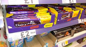 300g bar of Cadbury Dairy Milk Fruit & Nut - Tesco for £2