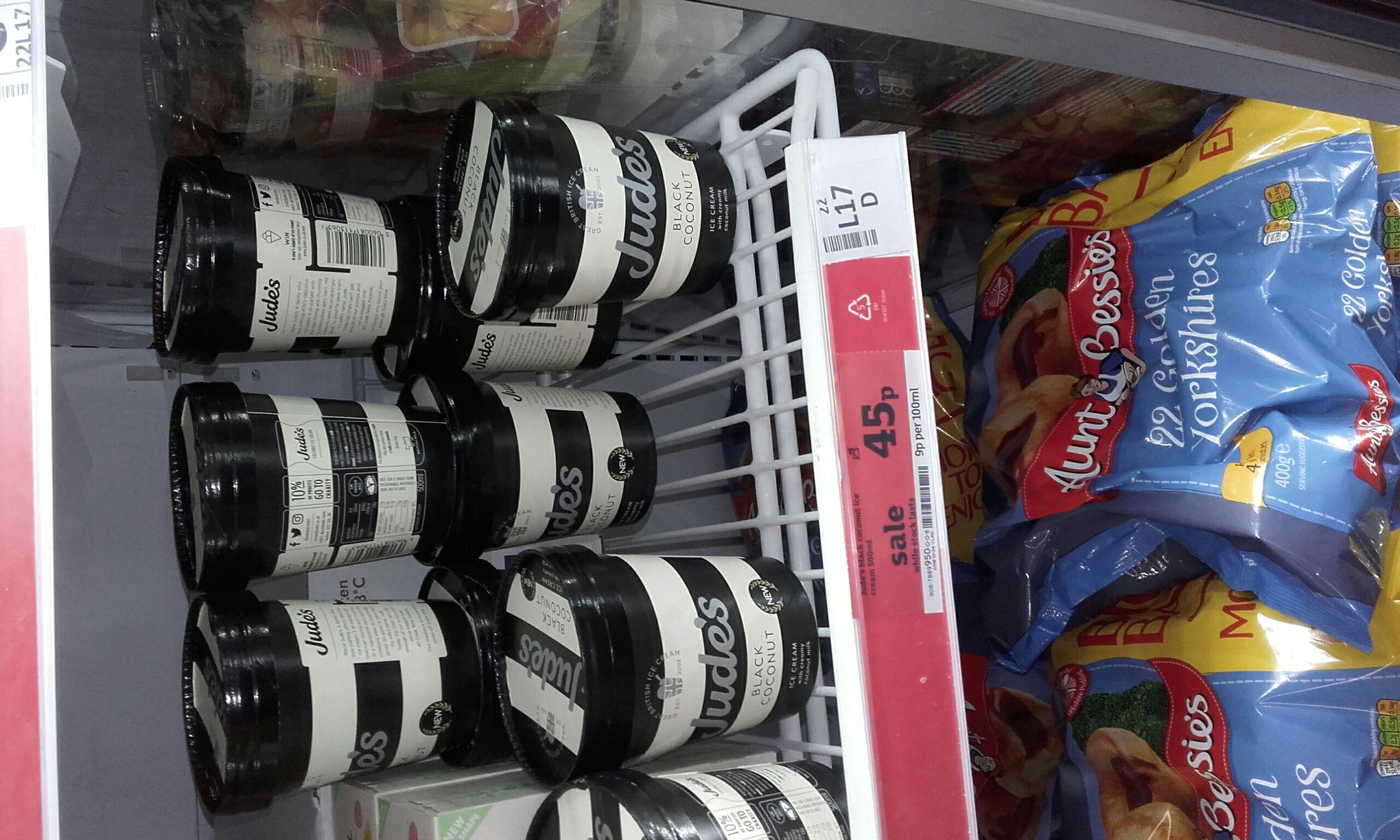 Judes ice cream 500ml - 45p instore at Sainsbury Dewsbury